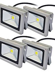 baratos -JIAWEN 10W Focos de LED Decorativa Exterior Iluminação Externa Branco Quente Branco Frio AC 85-265V