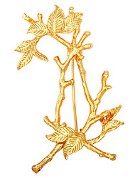 cheap -Men's Women's Brooches Jewelry Personalized Fashion Gold Plated Alloy Tree of Life Gold White Jewelry For Gift Office & Career