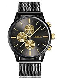 economico -Per uomo Orologio elegante Orologio alla moda Quarzo Acciaio inossidabile Banda Nero Oro