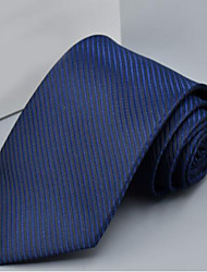 cheap -Men's Polyester Neck Tie,Office/Business Solid Gray Purple Yellow Fuchsia Light Blue
