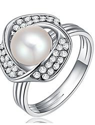 Dámské Široké prsteny Imitace perly Přizpůsobeno Luxus Klasické Základní Sexy láska Módní Cute Style Elegantní Napodobenina perel Slitina
