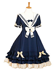Sailor/Navy Cosplay Costumes Female Halloween Carnival Festival/Holiday Halloween Costumes Dark Blue Solid Color