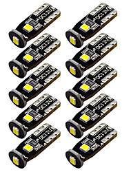 cheap -10 PCS T10 3030 3SMD LED 3W for Car Interior Dome Map Door Lights License Plate Lights Reading Lights White