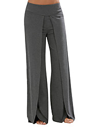 cheap -Women's High Rise Micro-elastic Loose Wide Leg Pants,Casual Active Solid Cotton Spandex All Seasons