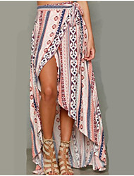 cheap -Women's Beach Boho Maxi Swing Skirts - Multi Color, Print High Waist