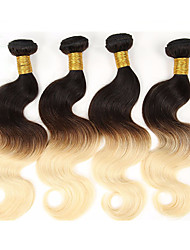 economico -Ambra Brasiliano Ondulato naturale 6 mesi 4 pezzi tesse capelli kg Onde