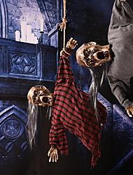 abordables -Halloween decoraciones fantasmas de cabello largo juguetes eléctricos casas embrujas horror arreglado