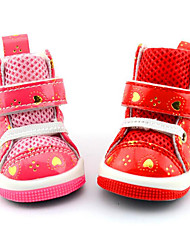 Hund Schuhe und Stiefel Lässig/Alltäglich Wasserdicht Herzen Rot Rosa