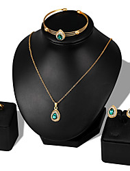 cheap -Women's Cubic Zirconia Jewelry Set - Zircon, Rose Gold Plated Ball Fashion Include Bracelet Bangles / Stud Earrings / Necklace White / Red / Green For Wedding / Party / Birthday