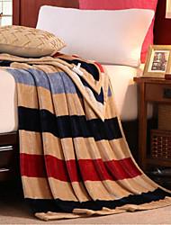 Недорогие -Фланель Клетки Хлопчатобумажная ткань одеяла