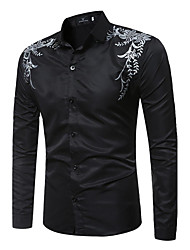 Men's Large Size Printing Long-Sleeved Shirt