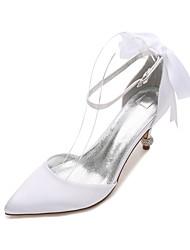 Da donna scarpe da sposa Comoda D'Orsay Decolleté Raso Primavera Estate Matrimonio Formale Serata e festaCon diamantini Fiocco