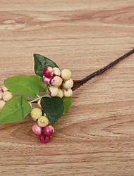 cheap -9inch Large Size 5 Branch Silk Styrofoam Polyester Plants Tabletop Flower Artificial Flowers