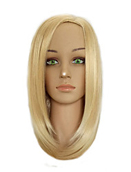 cheap -Woman Middle Part  Bobo Wig Medium Length Straight Golden Blonde Mixed Synthetic Hair Wig
