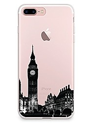 cheap -For iPhone X iPhone 8 Case Cover Transparent Pattern Back Cover Case City View Soft TPU for Apple iPhone X iPhone 8 Plus iPhone 8 iPhone