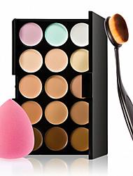 cheap -15 Colors Concealer Palette Face Makeup Contour Kit Concealer With Makeup Brushes Sponge Set