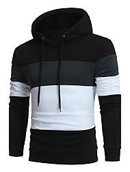 Men's Fashion Casual Large Yards Wei Stitch Hooded Sweater