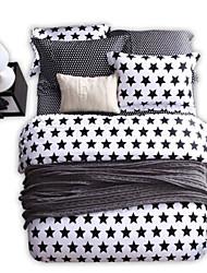 cheap -Geometric 4 Piece Cotton Cotton 1pc Duvet Cover 2pcs Shams 1pc Fitted Sheet