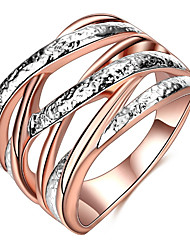 cheap -Women's Luxury Alloy Band Ring - Geometric Twist Circle Personalized Luxury Classic Basic Sexy Love Elegant Cute Style Hip-Hop Fashion