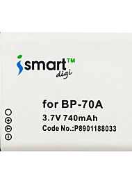 Ismartdigi BP70A 3.7V 740mAh Camera Battery for Samsung SLB-70A BP70A ES65 ES67 ES70 ES73