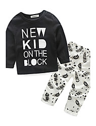 Baby Kids' Outdoor Sport Casual/Daily Print Clothing Set Spring/Fall