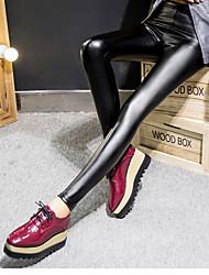 cheap -Women's Medium PU Legging,Solid Black