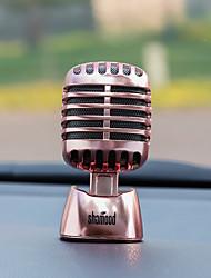 Diyautomotive ornamentos coche perfume adornos moda personalidad micrófono carpendant&Ornamentos de metal
