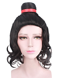 cheap -Halloween Cosplay Party Wig Heat Resistant Black Color Custome Wig New Design