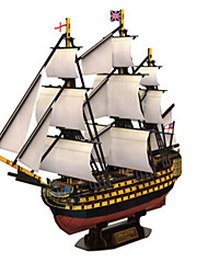 cheap -3D Puzzle Jigsaw Puzzle Warship Ship Natural Wood Unisex Gift