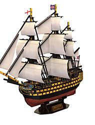 Недорогие -3D пазлы Пазлы Военные корабли Корабль Натуральное дерево Универсальные Подарок