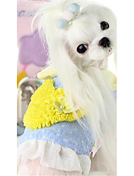 cheap -Dog Vest Dog Clothes Heart Purple Blue Pink Cotton Down Costume For Pets Casual/Daily