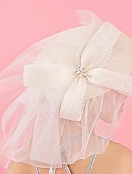abordables -Tulle Dentelle Strass Tissu Soie Filet Fascinators Chapeaux 1 Mariage Occasion spéciale Anniversaire Fête / Soirée Casque