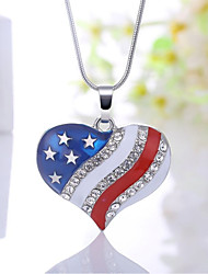 cheap -Women's Heart Classic Fashion Pendant Necklace Synthetic Diamond Alloy Pendant Necklace , Party Gift Daily Evening Party Stage