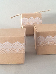 economico -portacandele in carta a forma di cubo con scatole bomboniere-50 bomboniere