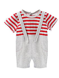 Baby Stripe One-Pieces,Cotton Winter Summer Red