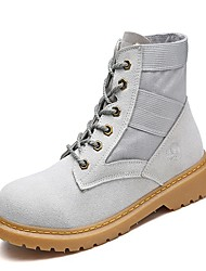 cheap -Women's Shoes PU Leatherette Spring Fall Mary Jane Combat Boots Comfort Boots Hiking Shoes Flat Heel Round Toe Booties/Ankle Boots