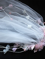 Tulle Chiffon Basketwork Lace Fabric Plastic Silk Net Headpiece-Wedding Special Occasion Birthday Party/ Evening Headbands Flowers 1 Pieces