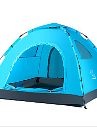 LINGNIU® 3-4 persons Tent Single Camping Tent One Room Automatic Tent Keep Warm Wateproof Ultraviolet Resistant Sunscreen Sun Protection