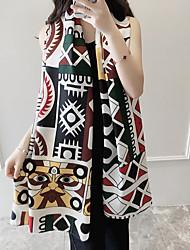 Women's Ethnic Style Beach Seaside Vacation Geometric Printing Scarf Long Sunscreen Decorative Silk