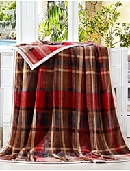 Недорогие -Плюш Решетка Хлопчатобумажная ткань одеяла