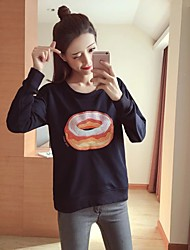 Women's Casual/Daily Sports Active Cute Hoodie Solid Turtleneck Micro-elastic Rayon Polyester Long Sleeve Fall Winter