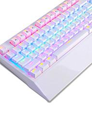 Недорогие -AJAZZ ak48 Проводное Мульти цвет подсветки Синие переключатели 104 Механическая клавиатура Подсветка