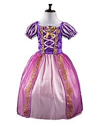 Princess Fairytale Cosplay One-Piece/Dress Kids Girls' Halloween Carnival Festival/Holiday Halloween Costumes Purple Vintage