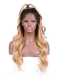 Ombre T1B/27 Body Wave Lace Front Human Hair Wigs with Baby Hair 130% Density Brazilian Virgin Hair Glueless Lace Wig for Woman