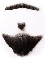Neitsi 100% Human Hair Full Hand Tied Fake Mustache Beard Holloween Makeup Beard