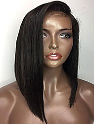 Side Part Short Silk Straight Bob Human Hair Wigs Glueless Lace Front Indian Human Hair Wigs Big Discount For Black Women