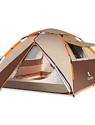 Недорогие -4 человека Автоматический тент На открытом воздухе Дожденепроницаемый Двухслойные зонты Палатка 2000-3000 mm для Отдых и Туризм Другие материалы