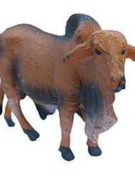 Недорогие -Фигурки животных Игрушки Лошадь Овечья шерсть Cow Животный принт Животные моделирование Предметы интерьера кремнийорганическая резина