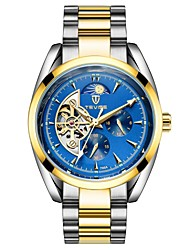 Tevise fully-automatic mechanical watch stainless steel commercial watch mens watch steel strip waterproof calendar watch A020