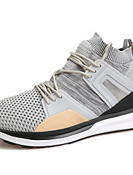 Men's Athletic Shoes Comfort Summer Fall Tulle Running Shoes Athletic Casual Outdoor Office & Career Work & Safety Gray Black Flat